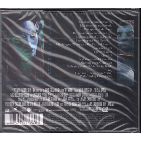 James Horner CD Avatar  OST Soundtrack Sigillato 0075678957611