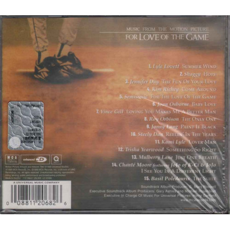 AA.VV. CD For Love Of The Game OST Soundtrack Sigillato 0008811206826
