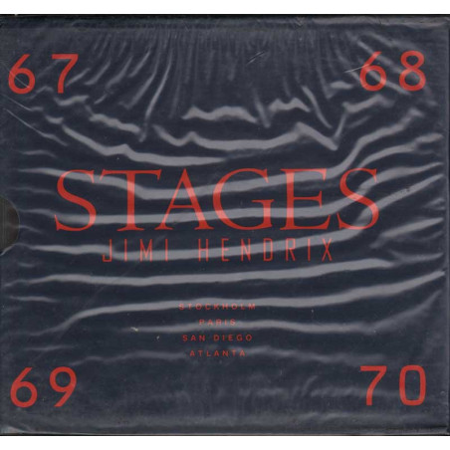 Jimi Hendrix Box 4 CD Stages / Polydor 511 763-2 Sigillato Raro 0731451176326