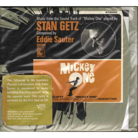 Stan Getz CD Plays Music From The Soundtrack Of Mickey One / Verve Sigillato