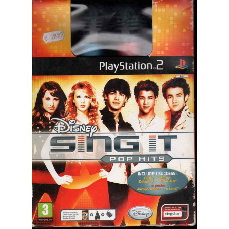 Disney Sing It! Pop Hits Microfoni Playstation 2 PS2 Sigillato 8717418229542