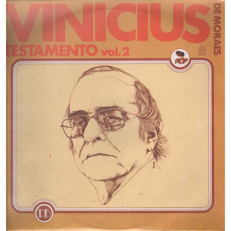 Vinicius De Moraes Lp 33giri Testamento...Vol. 2 Sigillato RB 358