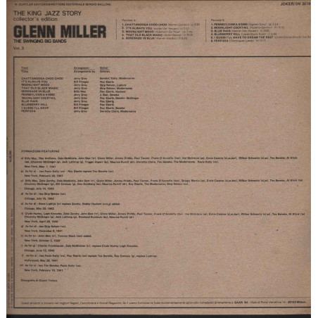 Glenn Miller Lp 33giri The Swinging Big Bands (1939/1942) Vol.3 Nuovo SM3619
