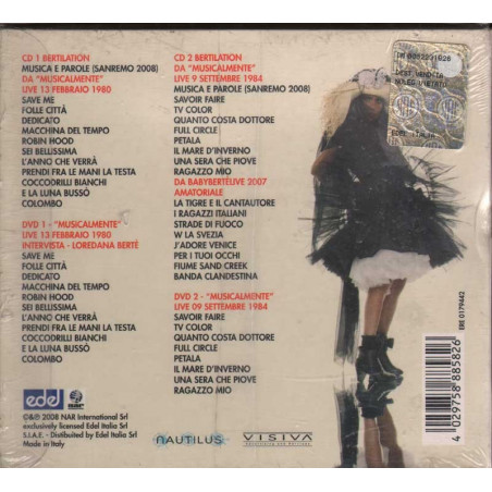 Loredana Berte' 2 CD + 2 DVD Digipack Bertilation Nuovo Sigillato 4029758885826