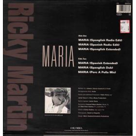 "Ricky Martin Vinile 12"" Maria (Remixes) Nuovo 5099766347660"