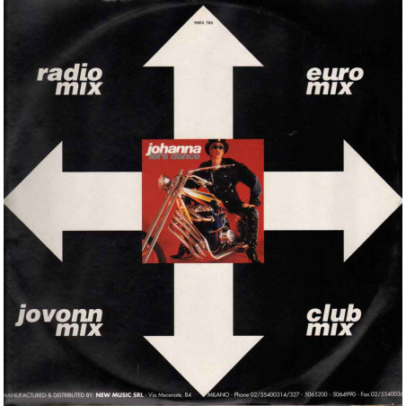 "Johanna Vinile 12"" Let's Dance New Music International NMX 760 Nuovo"
