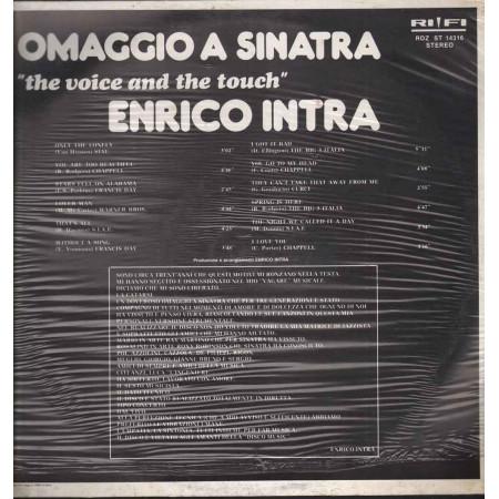 Enrico Intra Vinile Omaggio A Sinatra - The Voice And The Touch Sigillato