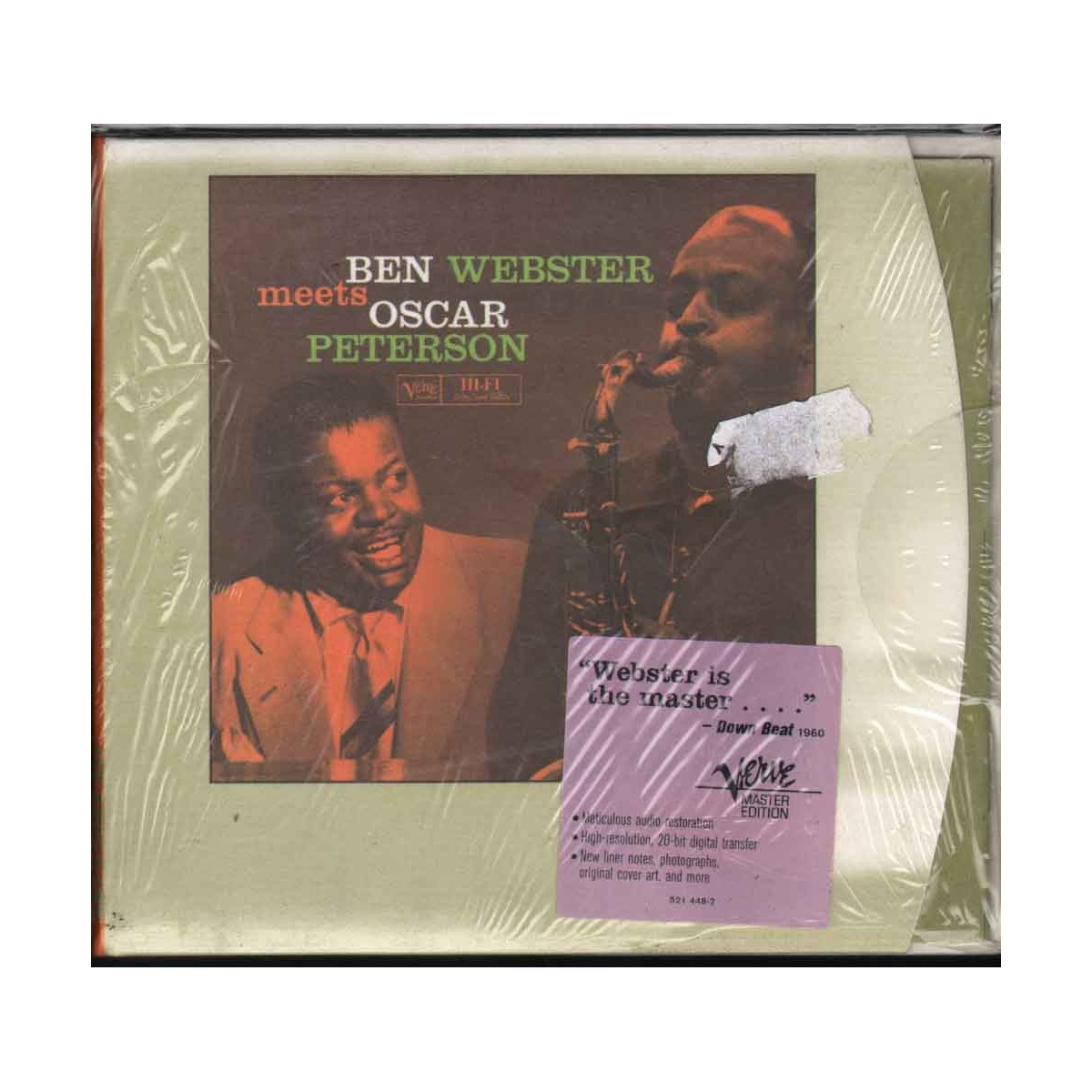 Ben Webster Meets Oscar Peterson CD Omonimo Nuovo Sigillato 0731452144829