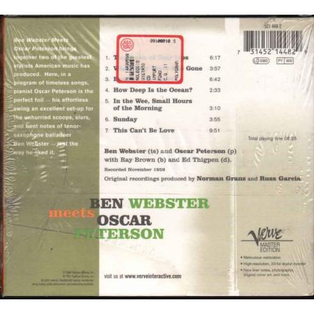 Ben Webster Meets Oscar Peterson CD Omonimo Nuovo Sigillato 0731452144829