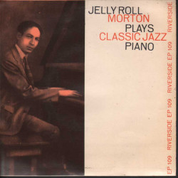 "Jelly Roll Morton Vinile EP 7"" Plays Classic Jazz Piano Nuovo"