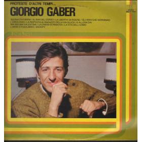 Giorgio Gaber Lp 33giri Proteste Di Altri Tempi  Nuovo 0033323