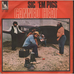 "Canned Heat Vinile 7"" 45 giri Poor Moon / Sic 'Em Pigs - Liberty ‎LIB 9052 Nuovo"