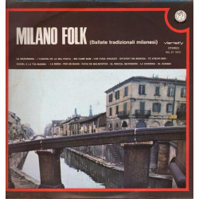 AAVV Lp Vinile Milano Folk Ballate Tradizionali Milanesi / Variety Rifi Nuovo