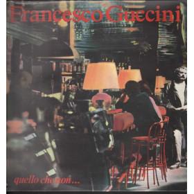Francesco Guccini Lp Vinile Quello Che Non / EMI Sigillato 0077779483211
