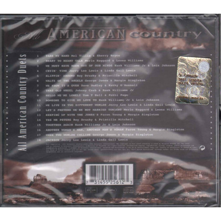 AA.VV CD All American Country Duets / Spectrum 552561-2 Sigillato 0731455256123
