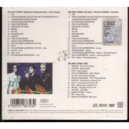 Manic Street Preachers 3 CD The Holy Bible (10th Anniversary Edition) Sigillato 5099751887232