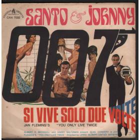 """Santo & Johnny Vinile 7"""" 45giri Si Vive Solo Due / Se E' Vero Amore Volte Nuovo"""