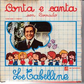 """Il Piccolo Coro dell'Antoniano Vinile 7"""" 45 giri Conta E Canta con Corrado Le Tabelline 5 Dischi Nuovo"""