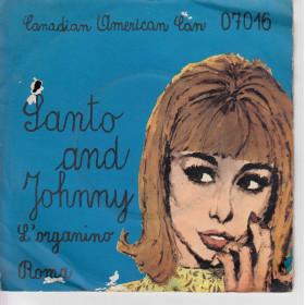 """Santo & Johnny Vinile 7"""" 45 giri L'organino / Roma Nuovo CAN07016"""