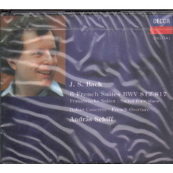 J.S. Bach / Andras Schiff CD 6 French Suites BVW 812-817 Italian Concerto Sig