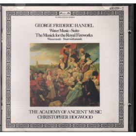 Handel / Christopher Hogwood CD Water Music - Suite Nuovo 0028940005923