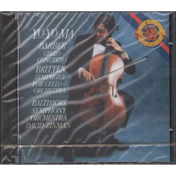 Yo-Yo Ma CD Barber: Cello Concerto / Britten: Symphony For Cello & Orchestra Sig