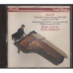 J S Bach / Steuerman CD Chromatic Fantasy U / Prelude & Fugue Nuovo