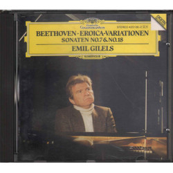 Beethoven / Emil Gilels CD Eroica Variations Piano Sonatas 7 / 18 Nuovo