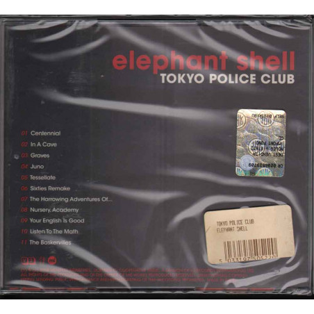 Tokyo Police Club  CD Elephant Shell Nuovo Sigillato 5033197505220