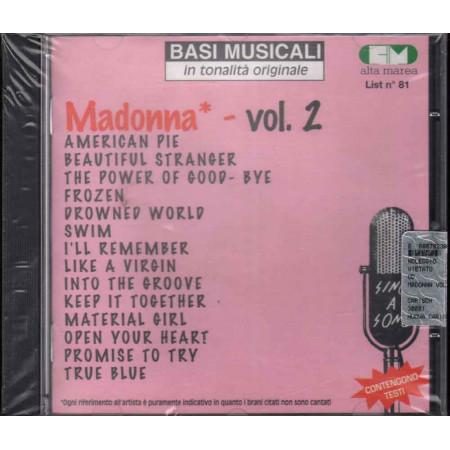 Basi Musicali CD Madonna Vol.2 Nuovo Sigillato 9788882916718
