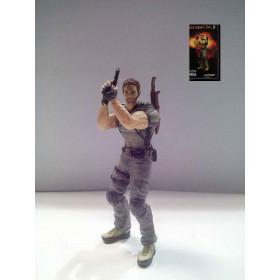 "Chris Redfield 3.5"" Action Figure (Resident Evil 5) Capcom Nuovo 0634482392287"