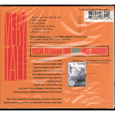 The Oscar Peterson TrioWith Milt Jackson CD Very Tall Sigillato 0731455983029