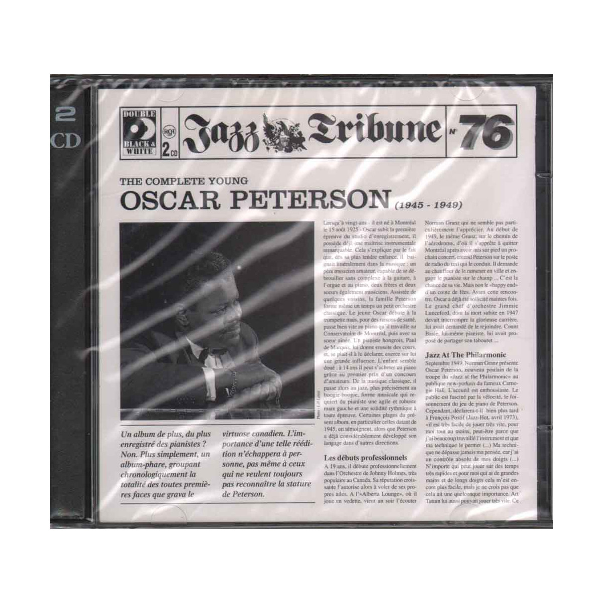 Oscar Peterson 2 CD The Complete Young (1945 - 1949) Sigillato 0743212261226