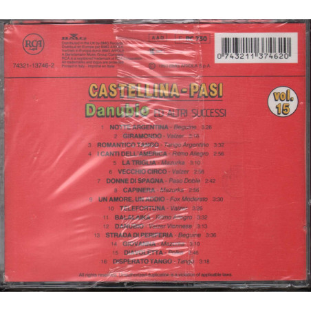 Castellina Pasi CD Danubio Ed Altri Successi Vol 15 / RCA Sigillato