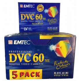 Emtec DVC 60 Video Cassette - Confezione da 5 Pezzi 4009993157070