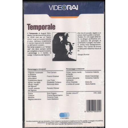 Temporale - Il Teatro Di Giorgio Strehler VHS T. Carraro / F. Graziosi Sigillata