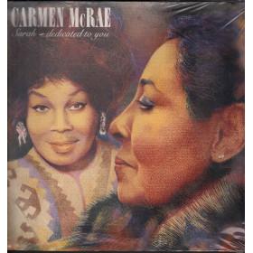 Carmen McRae Lp Vinile Sarah, Dedicated To You / Novus Sigillato 0035629054615
