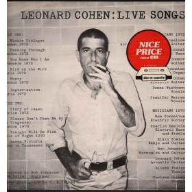 Leonard Cohen Lp Vinile Live Songs / CBS 32272 Nice Price Nuovo
