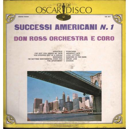 Don Ross Orchestra E Coro Lp Vinile Successi Americani N.1 Nuovo
