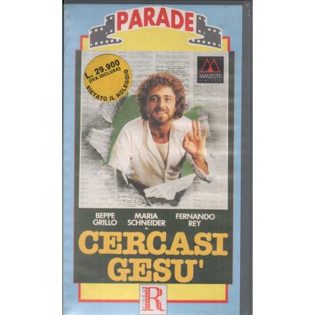 Cercasi Gesu' VHS Beppe Grillo / Luigi Comencini / Maria Schneider Sigillato