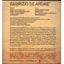 Fabrizio De Andre' Lp Vinile L'Indiano / Ricordi SMRL 6281 Nuovo