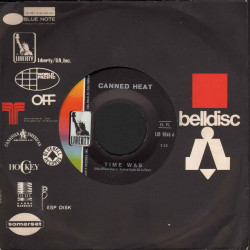 """Canned Heat Vinile 7"""" 45 giri Low Down / Time Was - Liberty Nuovo"""