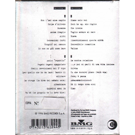 Vasco Rossi 2 MC7 Vasco Rossi (Omonima) Limited Ed Numerata Sigillata 0743213632445