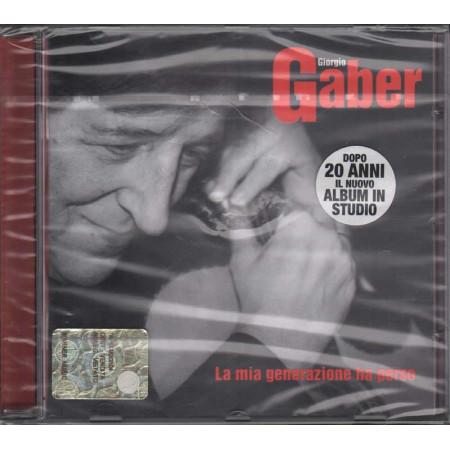 Giorgio Gaber CD La Mia Generazione Ha Perso Sigillato 0685738799220