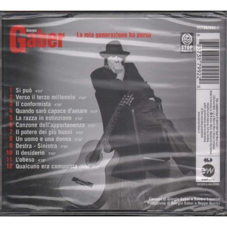 Giorgio Gaber CD La mia generazione ha perso Nuovo Sigillato 0685738799220