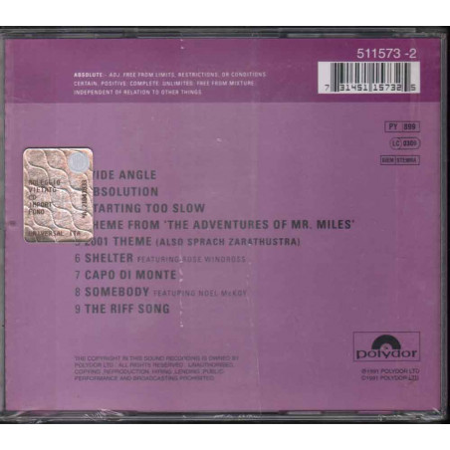 The James Taylor Quartet  CD Absolute - J.T.Q. Live Sigillato 0731451157325