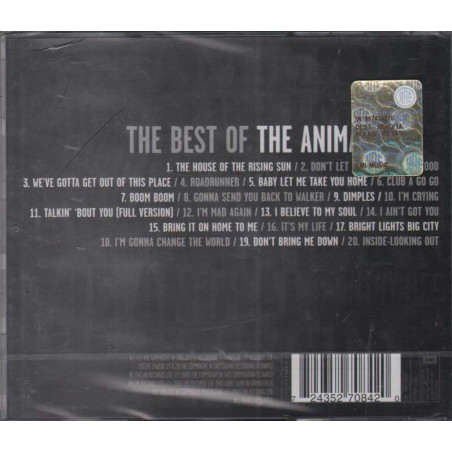 The Animals CD  The Best Of The Animals Nuovo Sigillato 0724352708420