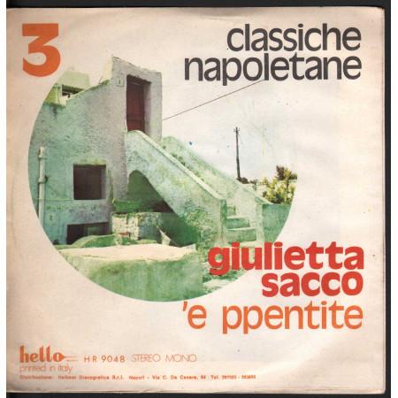 """Giulietta Sacco Vinile 7"""" Torna Maggio / 'E PPentite - Hello HR 9048 Nuovo"""