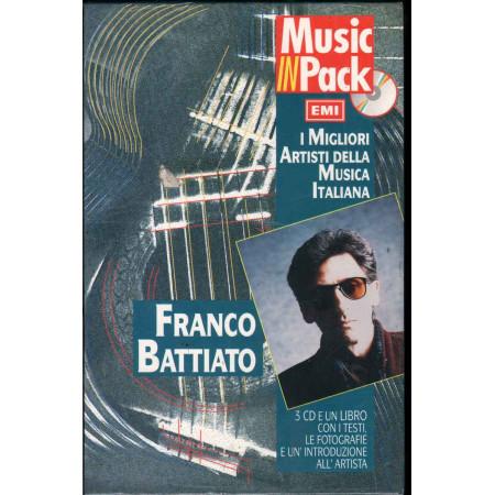 Franco Battiato 3CD Libro Music In Pack I Migliori Artisti della Musica Italiana