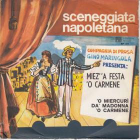 """G. Maringola 7"""" 45 Giri Mienz' A Festa 'O Carmene / 'O Miercuri Da' Madonna O' Carmene"""